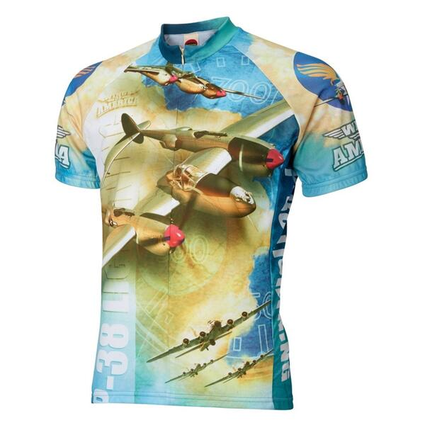 World Jerseys Men's P-38 Cycling Jersey