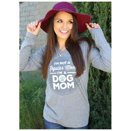 ATX Mafia Women's Regular Mom/Dog Mom Longsleeve Tee Shirt