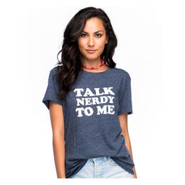 Sub_Urban Riot Women's Talk Nerdy To Me Short Sleeve Loose Fit T Shirt