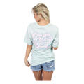 Back of Lauren James Women's Life N Seersucker Spring Tee Shirt