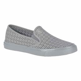 4f1be1f6aba Sperry Women s Seaside Perforated Casual Grey Shoes