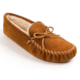 Minnetonka Men's Pile Lined Softsole Moccasin Slippers