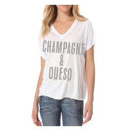Oil Digger Tees Women's Champagne & Queso Short Sleeve T Shirt