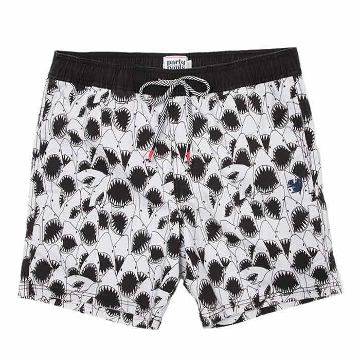 Party Pants Men's Sharkpile Beaver Swim Sho