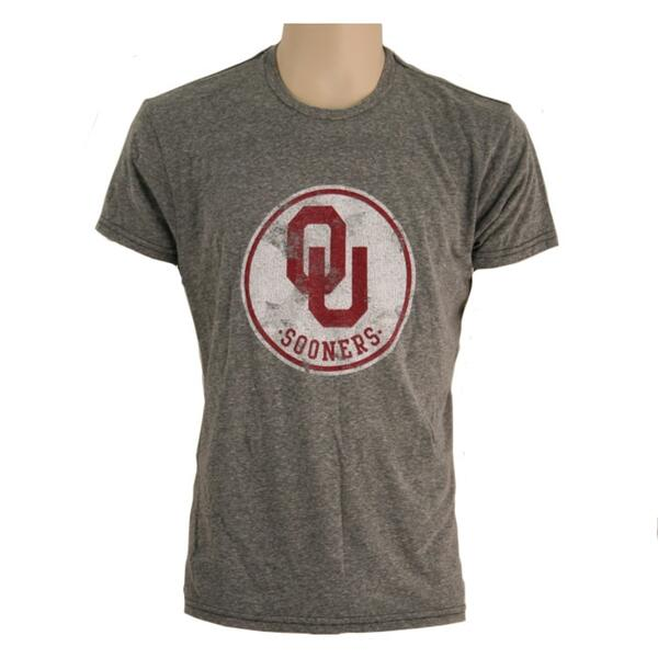 Original Retro Brand Men's Ou Circle Short Sleeve Tee Shirt
