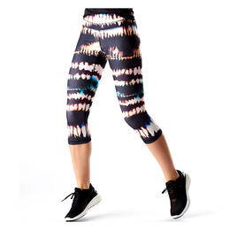 Lucy Women's Studio Hatha Capri Legging Multi Fire Dance
