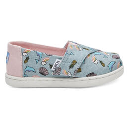 Toms Toddler Girl's Alpargata Casual Shoes Seaglass Dolphins