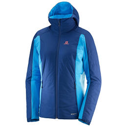 Salomon Women's Drifter Mid Hoodie Jacket Blue