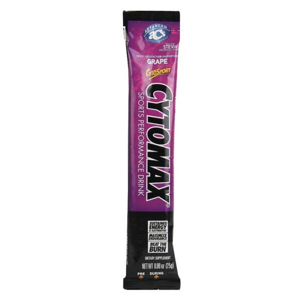 Cytosport Cytomax 25g Stick Go Grape w/ Herbal Lift Performance Sports Drink Mix
