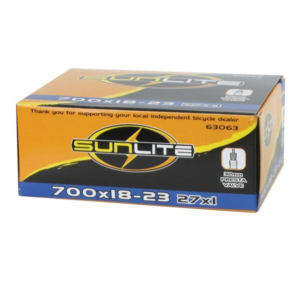 Sunlite 700x18/20 60mm Presta Valve Bicycle Tube