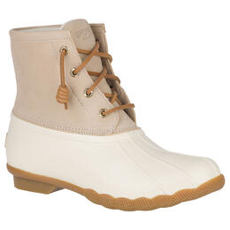 Sperry Women's Saltwater Duck Rain Boots Ivory