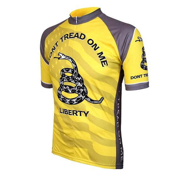 World Jerseys Men's Don't Tread On Me Cycling Jersey