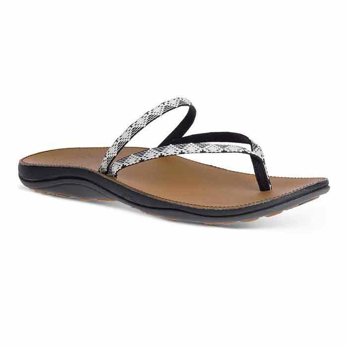 Chaco Women's Abbey Sandals Peaks Black/Whi