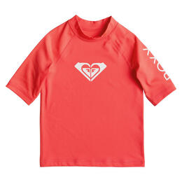 Roxy Girl's Whole Hearted Short Sleeve Rashguard