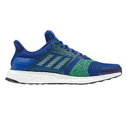 Adidas Men's Ultra Boost ST Running Shoes Royal/White/Shock Lime