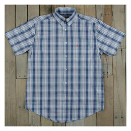 Southern Marsh Men's Catawba Plaid Short Sleeve Dress Shirt