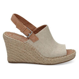 Toms Women's Monica Wedges Natural Hemp