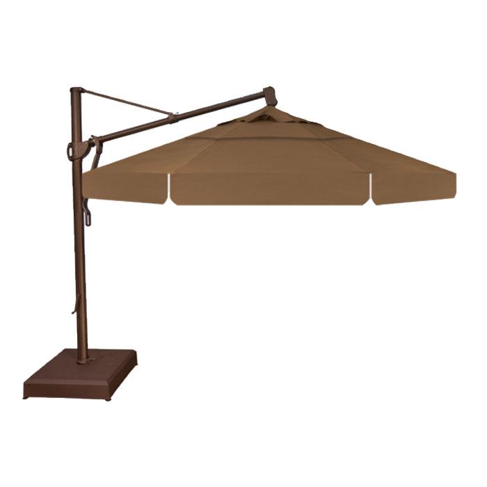 Treasure Garden 11u0027 AKZ Cantilever Umbrella   Toffee
