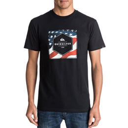 Quiksilver Men's Stars And Stripes Short Sleeve T Shirt