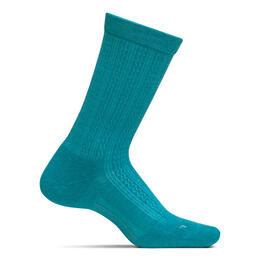 Feetures Women's Texture Crew Cushion Socks