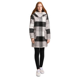 Ellabee Women's Aspen Mohair Plaid Coat