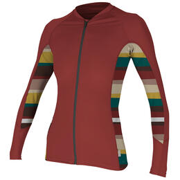 O'neill Women's Side Print Full Zip Rashguard