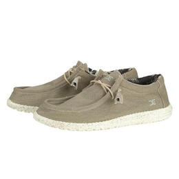 Hey Dude Men's Wally Stretch Beige Casual Shoes