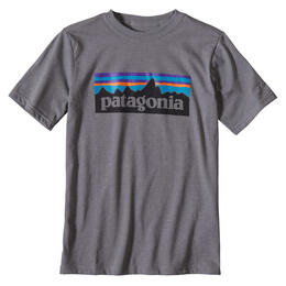 Patagonia Boy's P-6 Logo Cotton Short Sleeve T Shirt