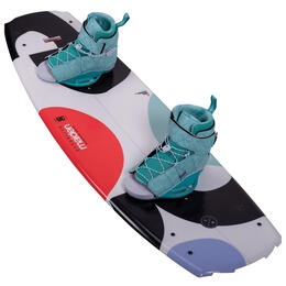 Hyperlite Women's Maiden Wakeboard with Viva 4-8.5 Bindings '21