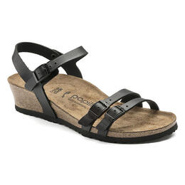 Birkenstock Women's Lana Leather Casual Sandals Black - Narrow