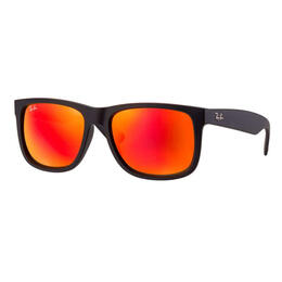Ray-Ban Justin Classic Sunglasses With Red Mirror Lenses
