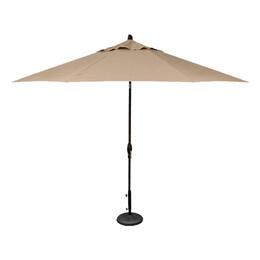 Treasure Garden 11' Auto Tilt Umbrella - Black with Beige