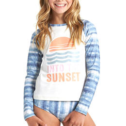 Billabong Girl's In A Wave Rashguard Swim Set