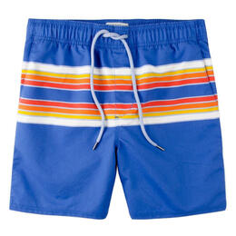Rowdy Gentleman Men's Retro Stripes Swim Trunks