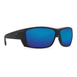 Costa Del Mar Men's Cat Cay Polarized Sunglasses with Blue Mirror Lens