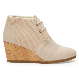 Toms Women's Desert Wedge Burlap Textured Casual Shoes