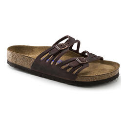 Birkenstock Women's Granada Oiled Leather Casual Sandals - Narrow