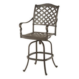 Hanamint Berkshire Bronze Swivel Bar Stool