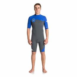 Quiksilver Men's 2mm Syncro - Short Sleeve Back Zip FLT Springsuit Wetsuit