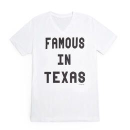 Oil Digger Tees Women's Famous In Texas V Neck T Shirt