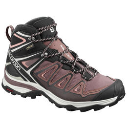 Salomon Women's X Ultra 3 Mid GTX Hiking Shoes Coral