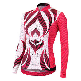Shebeest Women's S-cut Tribal Long Sleeve Cycling Jersey