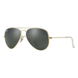 Ray-Ban Aviator Classic Sunglasses With Grey Green Lenses