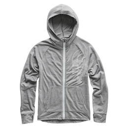 The North Face Girl's Triblend Full Zip Hoodie