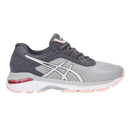 Asics Women's GT 2000 6 Running Shoes Silver/Carbon