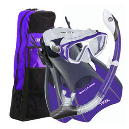 U.S. Divers Women's Diva 2 LX Snorkel Set