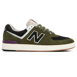 New Balance Men's All Coasts AM574 Casual Shoes Olive/Black