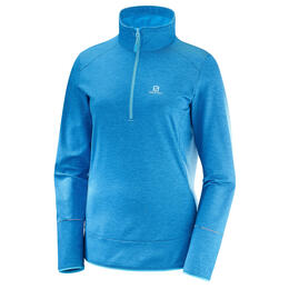Salomon Women's Discovery Half Zip Top, Hawaiian Surf