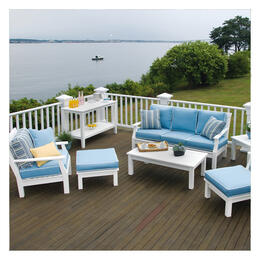Seaside Casual Nantucket Sofa 5-Piece Deep Seating Set