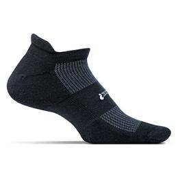 Feetures Men's No Show Tab Original Light Cushion Socks Black